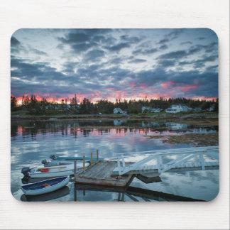Maine, Newagen, sunset harbor 2 2 Mouse Pad