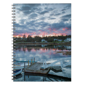 Maine, Newagen, sunset harbor 2 2 Notebook