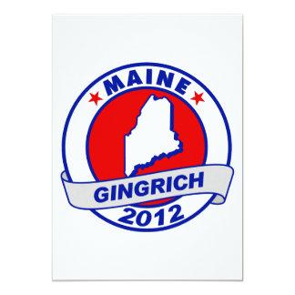 Maine Newt Gingrich Card