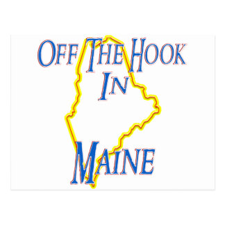 Maine - Off The Hook Postcard
