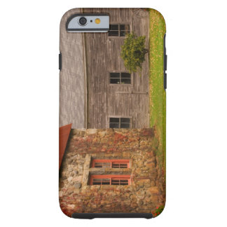 Maine,  Old stone building and wooden barn in Tough iPhone 6 Case