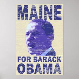 Maine para el poster de Barack Obama Póster