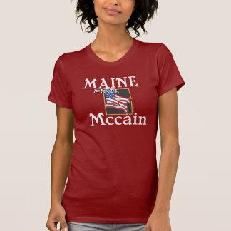 Maine para la camiseta de John McCain Playeras