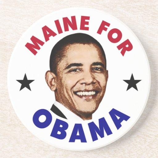Maine para Obama Posavasos Cerveza