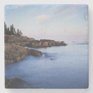 Maine, parque nacional del Acadia, Moonset Posavasos De Piedra