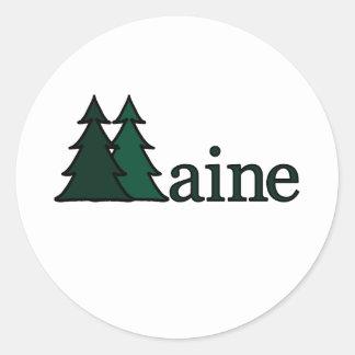 Maine Pegatina Redonda