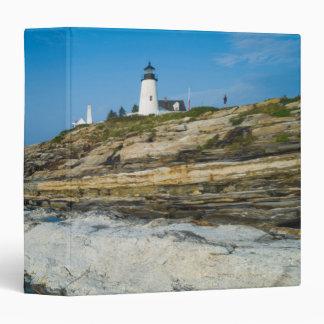 Maine, Pemaquid Point, Pemaquid Point Lighthouse 3 Ring Binder