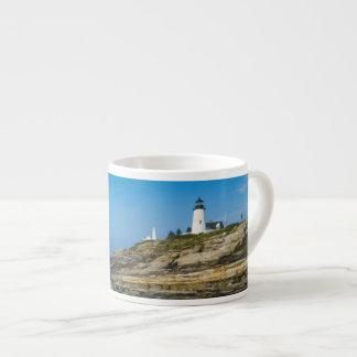 Maine, Pemaquid Point, Pemaquid Point Lighthouse Espresso Cup