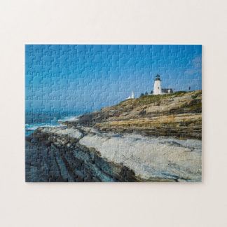 Maine, Pemaquid Point, Pemaquid Point Lighthouse Jigsaw Puzzle