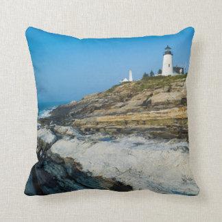 Maine, Pemaquid Point, Pemaquid Point Lighthouse Pillow