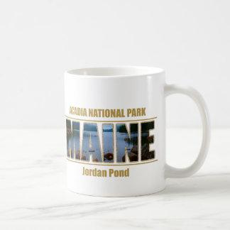 MAINE Picture Font Acadia National Park Mug