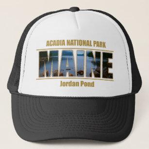 MAINE Picture Font Acadia National Park Trucker Hat 35570c88c908
