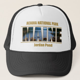 MAINE Picture Font Acadia National Park Trucker Hat