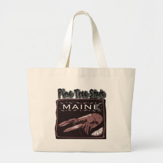 Maine Pine Tree State Lobster for lght shirt Canvas Bag