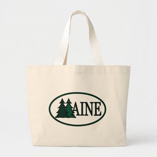 Maine Pine Trees II Jumbo Tote Bag