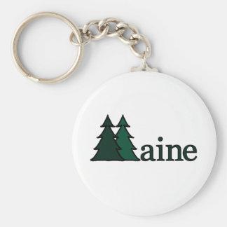 Maine Pine Trees Keychain