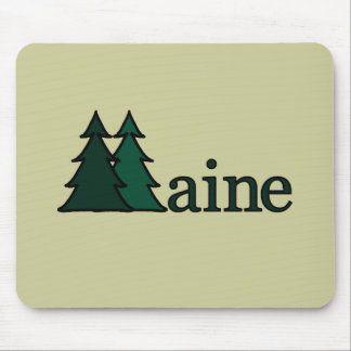 Maine Pine Trees Mouse Pad