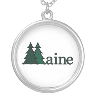 Maine Pine Trees Necklace