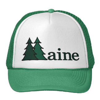 Maine Pine Trees Trucker Hat