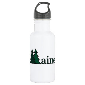 Maine Pine Trees Water Bottle