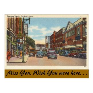 Maine, Portland, céntrica Tarjetas Postales