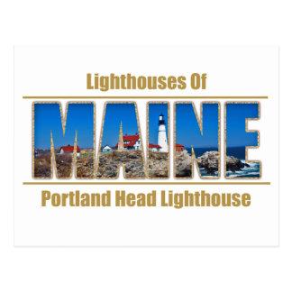 Maine Portland Head Lighthouse Image Text Postcards