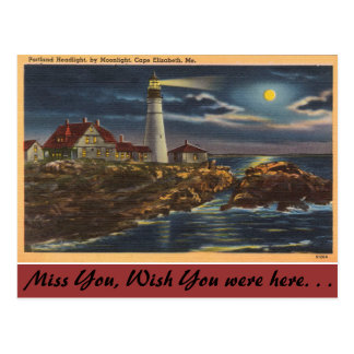 Maine, Portland Headlight, Cape Elisabeth Postcard