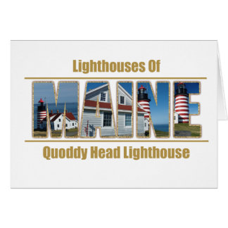 Maine Quoddy Head Lighthouse Image Text Card