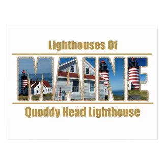 Maine Quoddy Head Lighthouse Image Text Postcard