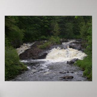 Maine Ragged Stream waterfall poster