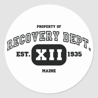 MAINE Recovery Classic Round Sticker
