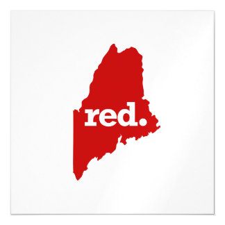 MAINE RED STATE MAGNETIC CARD