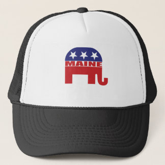 Maine Republican Elephant Trucker Hat