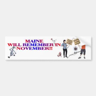 Maine - Return Congress To The People!! Bumper Sticker