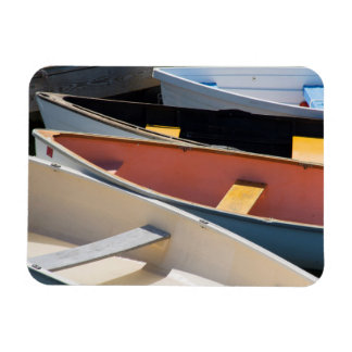 Maine, Rockland. Colorful boats in Rockland Rectangular Photo Magnet