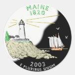 Maine Round Sticker
