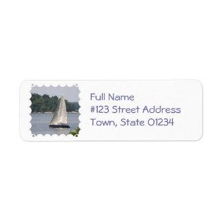 Maine Sailing Mailing Label