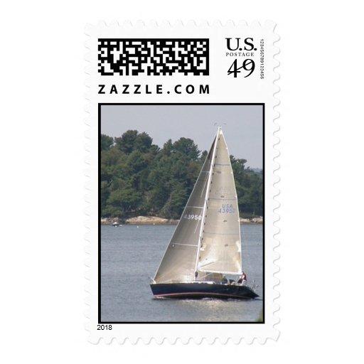 Maine Sailing Postage Stamp