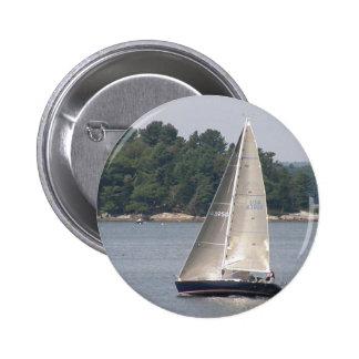 Maine Sailing Round Button