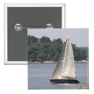 Maine Sailing Square Button