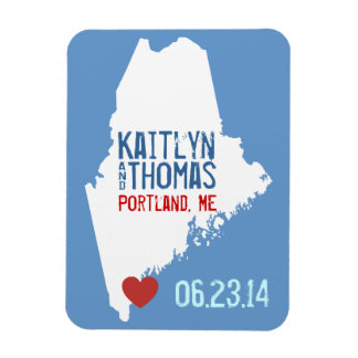 Maine Save the Date - Customizable City Magnet