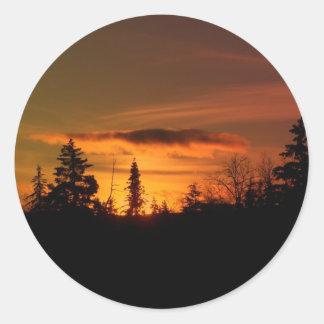 Maine septentrional 45 pegatinas redondas