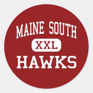 Maine South - Hawks - High - Park Ridge Illinois Classic Round Sticker