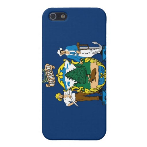 Maine state flag iphone 4 case