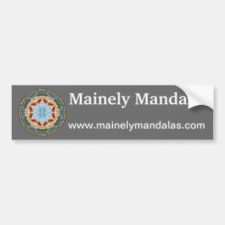 Maine State Mandala Bumper Sticker Car Bumper Sticker