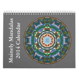 Maine State Mandala Calendar 2014