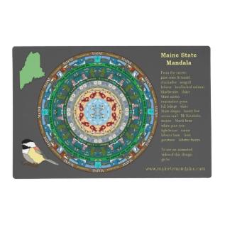 Maine State Mandala Placemat at Zazzle