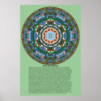 Maine State Mandala Poster