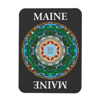 Maine State Mandala Vinyl Magnet