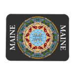 Maine State Mandala Vinyl Magnet Flexible Magnet